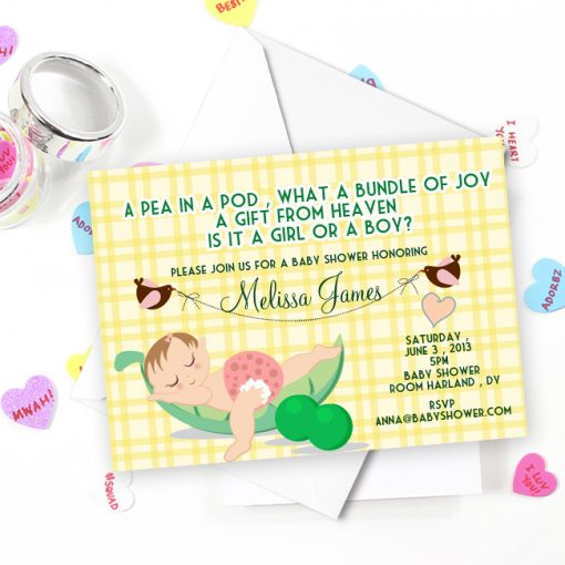 Cute and unique baby shower invitations w