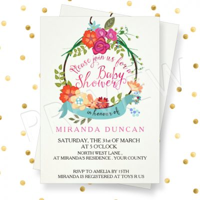 unique baby shower invitations girl