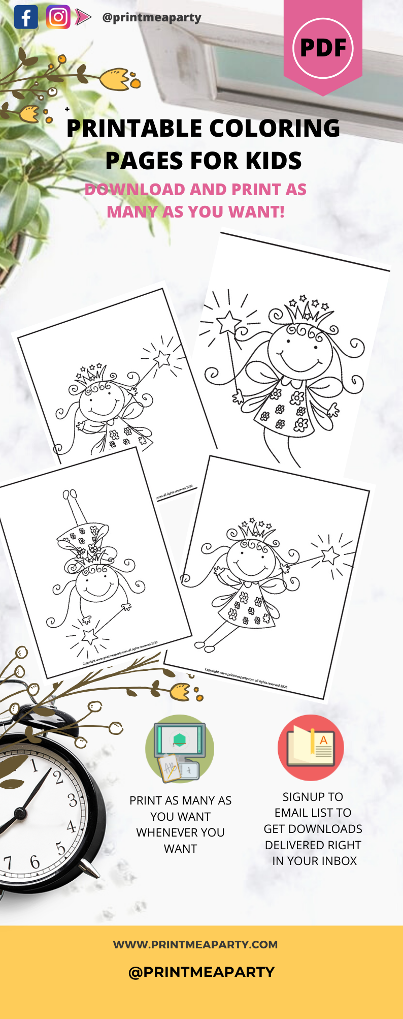 Free Coloring Pages Fairy princess