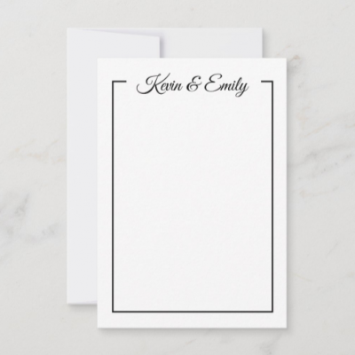 personalized stationery set notecard